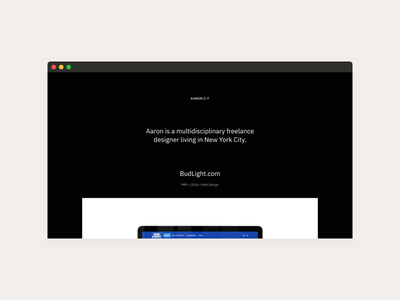 Temporary Dwellings wip semplice freelancer designer website web design web site responsive redesign portfolio personal