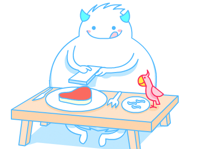 Snowman phone snowman parrot food line hana simple