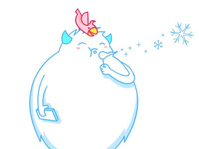 Snowman snowman parrot phone snow line hana simple
