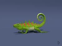 Low Poly-Iguana