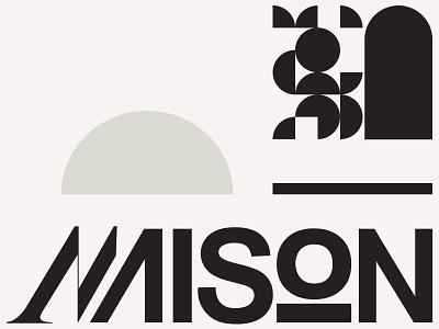 Maison type design logodesigner wordmark logo logotype typography logo typeface identity branding and identity branding typedesign typography type kennethvanoverbeke uwabaki