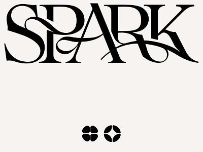 Spark wordmark logo artwork logo designer wordmarks elegant typography beautiful typography font lettering branding type design logotype logo typography typeface type kenneth vanoverbeke