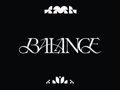 Balance logodesigner logotypes wordmark branding and identity logodesign font design typedesign branding typeface lettering logotype logo typography type uwabaki typography kenneth vanoverbeke typography kenneth vanoverbeke