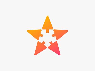 Logo concept pointer arrow mouse pointer star logo design logo