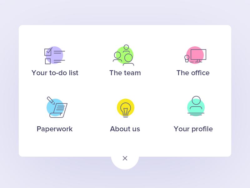 Uelco menu icons