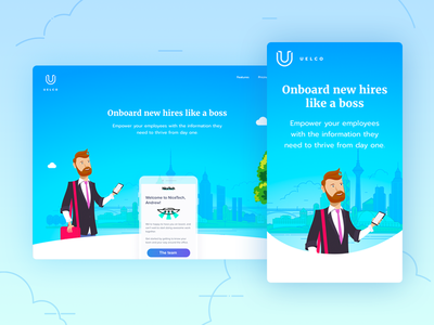 Uelco: responsive landing page