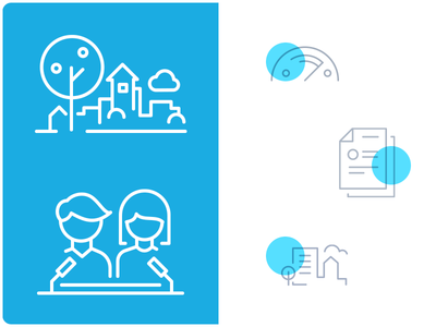 "Icons for UNICEF's ""Child Friendly Cities"" initiative in Belarus"