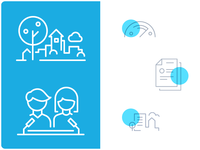 """Icons for UNICEF's """"Child Friendly Cities"""" initiative in Belarus"""