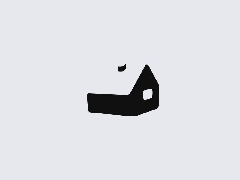 Hut logo logo house negative space hut
