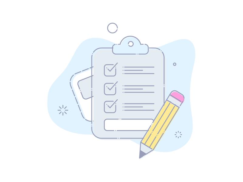 Activities survey icon document clipboard pencil illustration activity