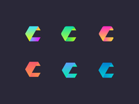 AI product logo concept (C)