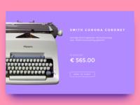 Daily UI #12 E-Commerce Shop (Single Item)