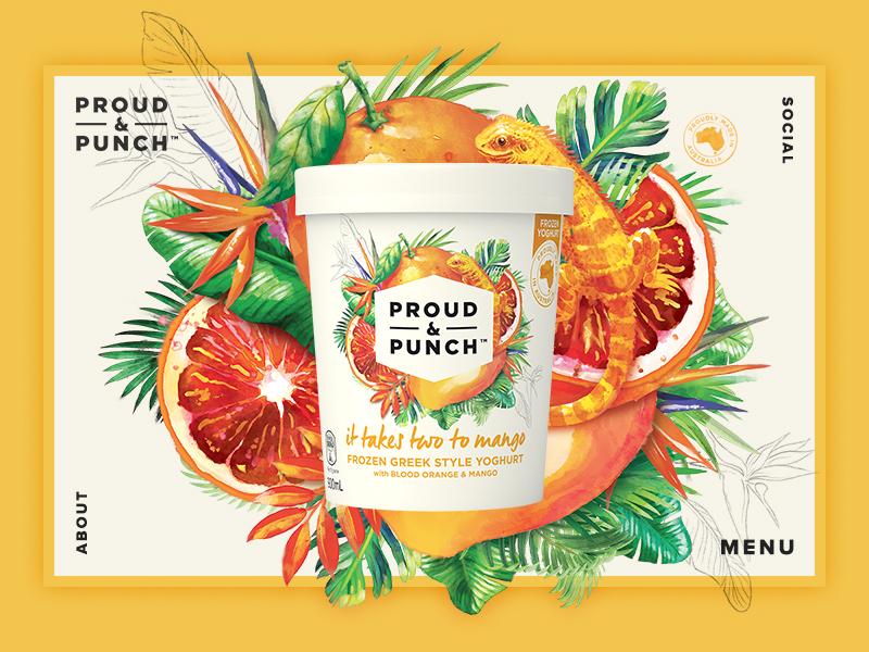 Dribble proud punch mango