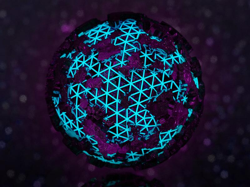 3D Globe Structure light glow luminence world cinema4d space render texture maxon c4d