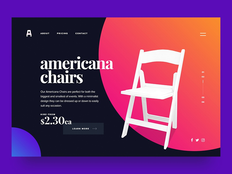 Take A Seat design products sales ux ui webdesign web design web