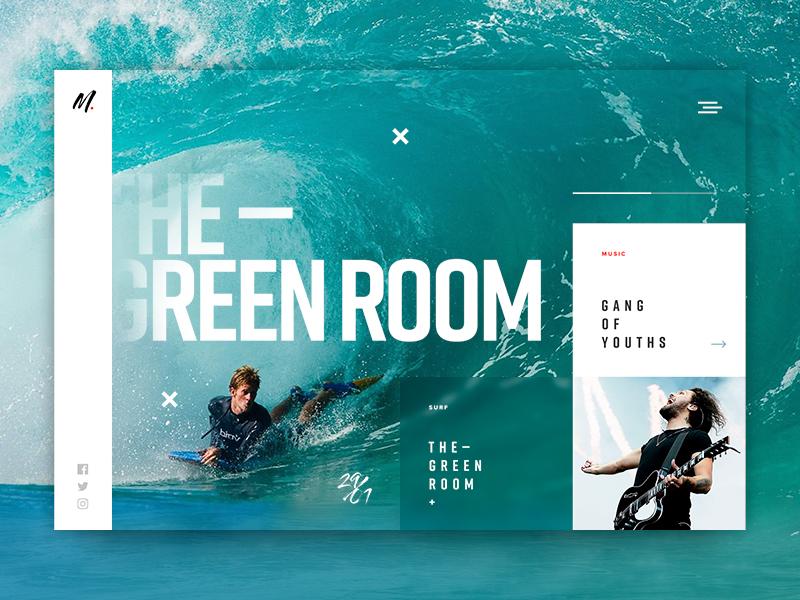 Magazine Concept articles music surf digital magazine ui webdesign web design web