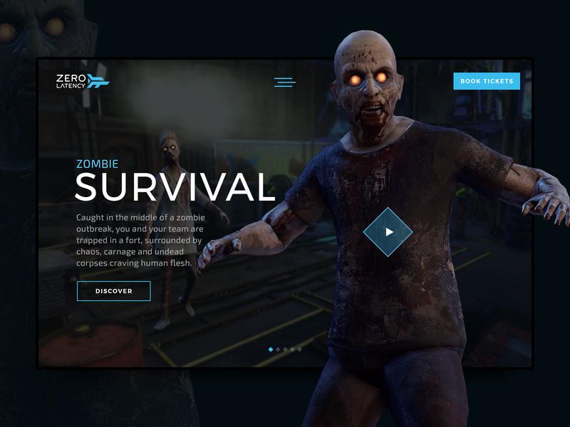 Zero Latency - Zombie Survival virtual reality vr survival zombie zero latency kojo ui web digital design