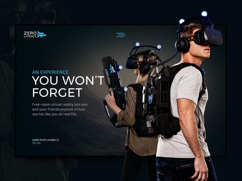 Zero Latency Experience kojo vr virtual reality zero latency ui web digital design