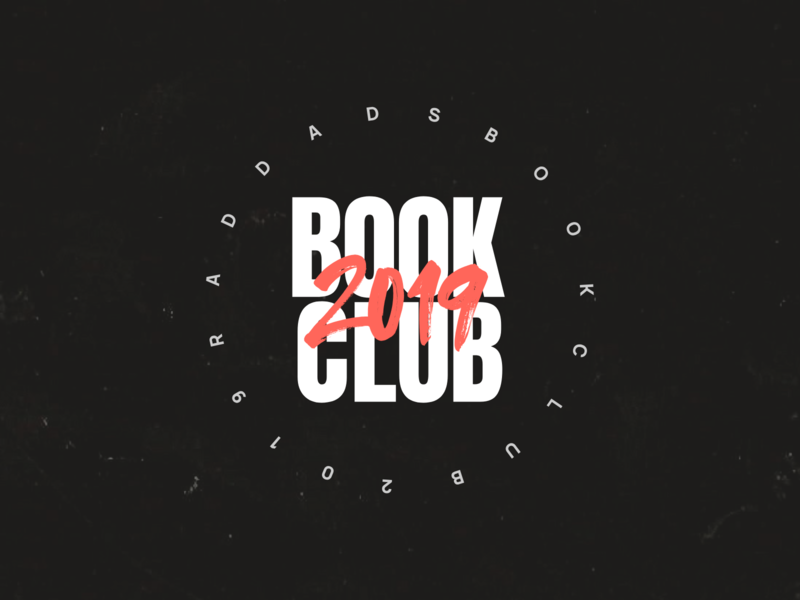 Book Club Logo just make digital samclarkedesign raddads bookclub vector typography branding logo design