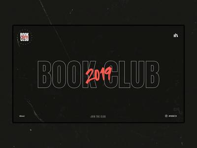 Book Club 2019 madewithadobexd xddailychallenge book nike ux concept web design typography navigation logo sam clarke design creative sessions just make web ui digital design