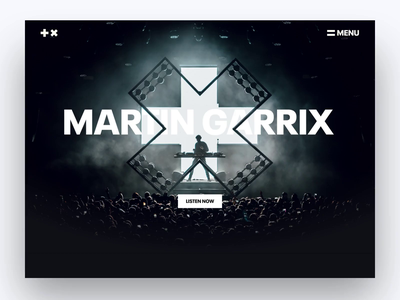 Official Martin Garrix website design ui header parallax artist website dark website website edm dance artist music deejay dj producer martin garrix