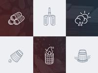 Barrel process icons