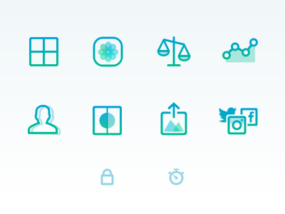Pushh Website Icons icons pushh export grid before-and-after scale measurements lock reminders progress