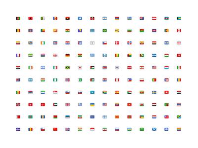 Freebie: 142 flags freebie set rainbow icons flags national flag national 16 16x16 country countries flag
