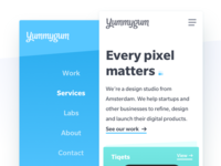 Yummygum Homepage Mobile 2017