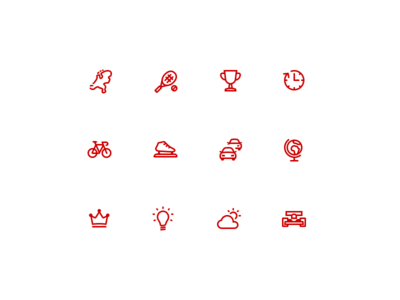 NOS - Category Icon Set icon tennis news trophy crown weather traffic ice-skating bicycle nederland nos