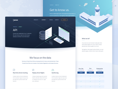 Aviation website homepage website illustration isometric airport propellor curved curve header aviation