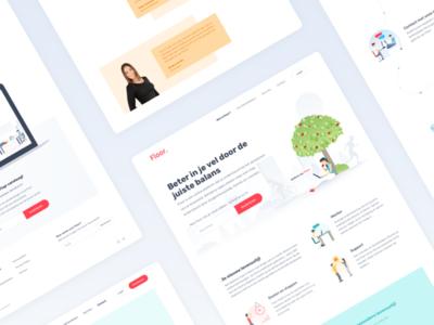 Floor Website avatars characters illustrations habits healthy lifestyle patients patient diabetes footer header website