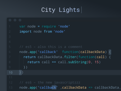 City Lights Syntax Theme vscode php development citylights dev javascript js sublime code atom syntax editor