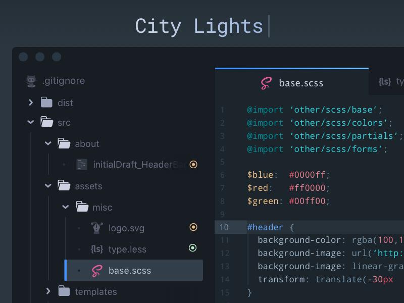 City lights ui theme by yummygum