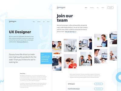 Yummygum Careers Page webpage website careers page front-end ux designer designer developer jobs job careers career
