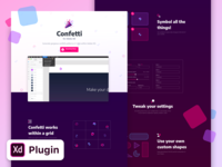 Confetti for Adobe XD - Landing Page