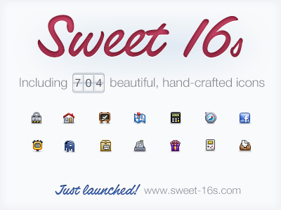 Sweet16s Launch icon set icons icon 16x16 16px launch sweet16s