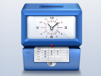 Punchclock Icon icon punch clock clock