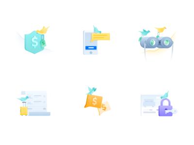 Spot illustrations for hotel booking platform FindHotel