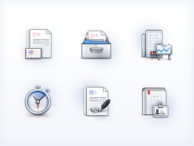 More (64x64) icons for Tally icons 64px 64x64 building office invoice billing estimate envelope clock timer time-tracking v-card v card feather signature