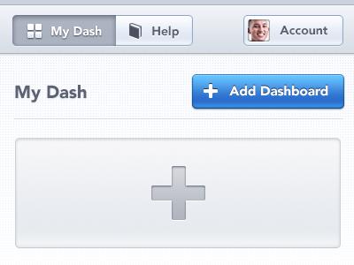 My Dash dash dashboard blue button glow menu bar