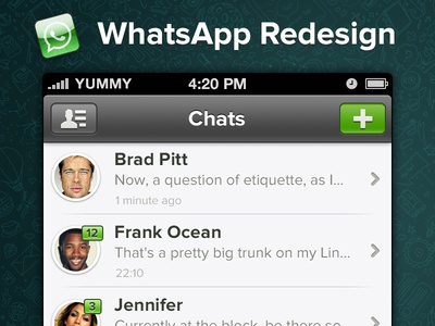 WhatsApp iPhone Redesign