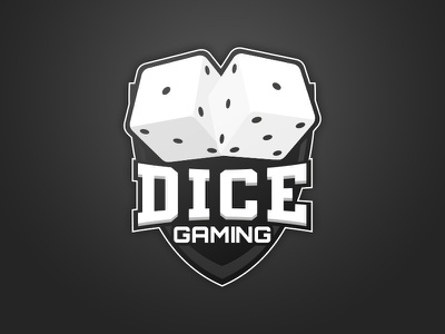 Dice-Gaming Logo team logo gaming dice
