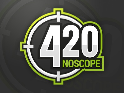 420 Noscope Gaming Clan twenty four noscope clan gaming strike counter 420 green logo