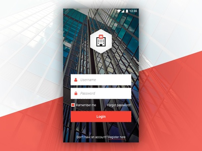 App Log in Screen - Daily UI #001 log in daily ui design interface ui ux app
