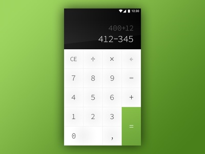 Calculator - Daily UI #004 calc simple clean interface ui ux calculator daily ui
