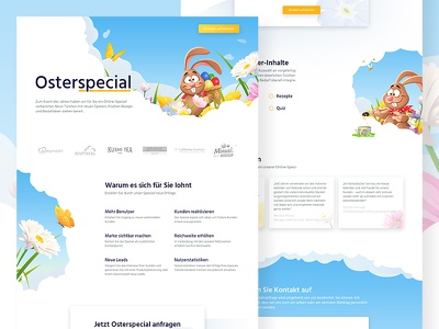 Easter Landingpage website easter landingpage