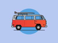 Oldschool VW minibus
