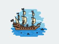 Once at sea