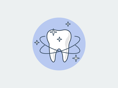 Tooth tooth flat outline line art illustrator illustration vector flat icon day2icon